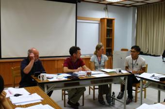 Translating at the 2014 Tawian Trail Crew Leader Training Camp